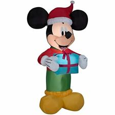 9 ft. Mickey Mouse with Gift Airblown Inflatable Christmas Decoration Disney