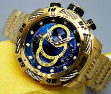Invicta Men's 50mm Speedway Viper Gen 3 Gold Case Blue Dial Chronograph Watch