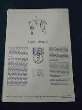 Collection Historique Timbre Poste 1er Jour : 23/02/91 - LOUIS ARAGON