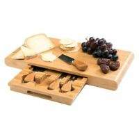 Stanley Rogers Bamboo 5 Piece Cheese Board Set Cheese Knives