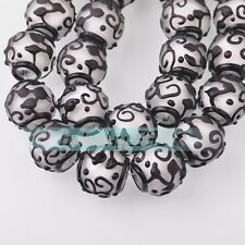 NEW 5pcs 18mm Big Dull Polish Lampwork Glass Charms Loose Spacer Beads Findings