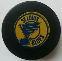 ST. LOUIS BLUES VINTAGE VICEROY MFG. MADE N CANADA NHL HOCKEY OFFICIAL GAME PUCK