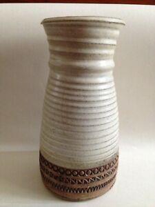 """Large Vintage Broadstairs Studio Pottery Vase By Dianne Sanders 10.1/4"""" High"""