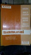 SUZUKI SAMURAI ANNO 93 manuale di istruzioni bordo LIBRO LIBRETTO di bordo usato