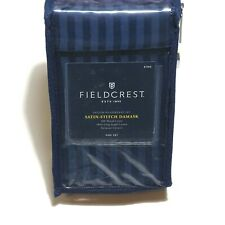 Fieldcrest Pillowcase Set King Insignia Blue 500 Thread Count Damask 21 x 36 in