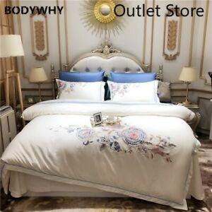 Luxury Cotton Bedding Set Embroidery Bed Cover Bedsheet Cover Room Bed Set