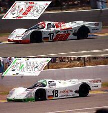 Calcas Porsche 962C Le Mans 1993 17 18 1:32 1:43 1:24 1:18 962 slot decals