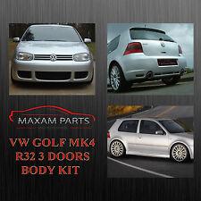 "VW GOLF MK4 4 IV BODY KIT BODYKIT 3 DOORS "" R32 "" = NEW = ABS PLASTIC"