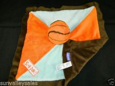 Babies R Us Basketball SLAM DUNK Orange Blue Lovey Security Blanket