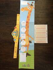 Toys R Us Babies R Us Geoffrey the Giraffe Toddler Growth Chart W 28 Stickers