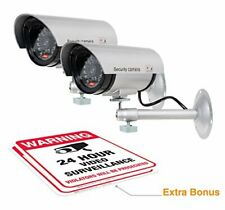 Dummy Security Camera Fake Bullet CCTV Surveillance System with Realistic Look