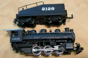 Vintage HO Scale Locomotive Train Engine AT SF with Tender 2126
