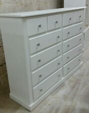 HANDMADE AYLESBURY (WHITE+SILVER HANDLES) CHEST OF 12 DRAWERS NOT FLAT-PACK!!!
