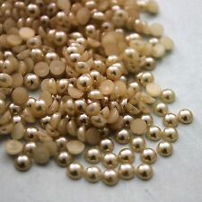 2000X Half Pearl Round Bead Flat Back 2mm - 8mm Scrapbook for Craft FlatBack