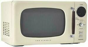 Daewoo KOR07R3ZEC: 0.7 cu. ft 700W Retro Countertop Microwave, Cream