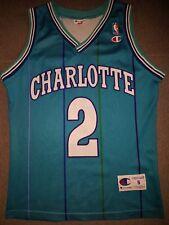Charlotte hornets nba camiseta estados unidos Jersey larry johnson original Champion s raras