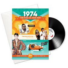 1974 43rd Birthday | Anniversary Gift -1974 4-In-1 Card,Book,CD and Download
