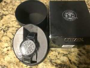 Citizen Eco-Drive Men's Black Multi Dial Watch B612