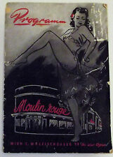 MOULIN ROUGE CLUB RARE PROGRAMMA BROCHURE 1957 NUDE ADVERTISEMENTS DANCE SINGERS