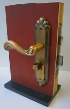 Door Handles Lever Lock Internal External Antique Brass Steel Sashlock 5 Keys