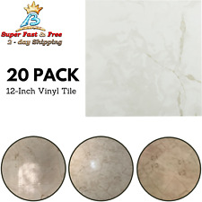 20 Pack Vinyl Tile Peel And Stick Marble Classic White With Grey Veins 12 Inches