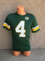 Mens Size Small S NFL Green Bay Packers Short Sleeve Green #4 Brett Favre Jersey