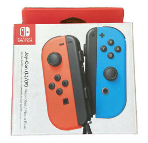 Nintendo Switch Joy-Con Pair Neon Red and Blue Sealed Genuine OEM