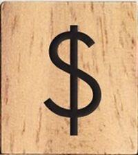 INDIVIDUAL WOOD SCRABBLE TILES! 8 FOR $2 25 CENTS PER TILE Dollar $ Sign Symbol