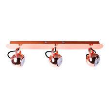 Plafonnier Suspension 3x50W Cuivre Spot Luminaire Lampe GU10 Couverture