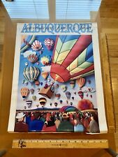 1988 Ted Imswiler  ALBUQUERQUE INTERNATIONAL BALLOON FIESTA POSTER 20 X 16 Vtg