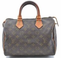 Authentic Louis Vuitton Monogram Speedy 25 Hand Bag Old Model LV B7794