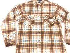 Vintage Flannel shirt 1980s Hunting shirt Brown Fieldmaster button front shirt M