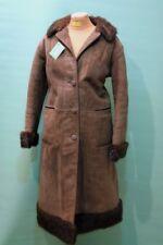 Schöner vintage Lamm Fell Mantel ca 42/L Damen shearling echt Leder Fell braun