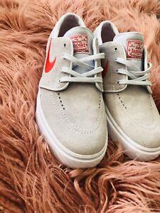 Nike SB Stefan Janoski Beige Red Shoes Size 6