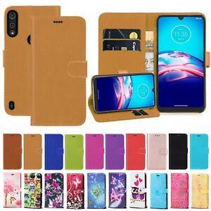 Leather Wallet Book Flip Case For Motorola Moto G8 Power Lite E5 E6 G8 G9 Play