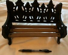 Vintage Doll Bench, Wood and Metal