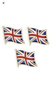 UNION JACK FLAG ENAMEL PIN BADGES UNITED KINGDOM GB