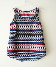 Atmosphere Multicoloured Aztec Print Sleeveless Vest Top Summer Holiday Fest UK8