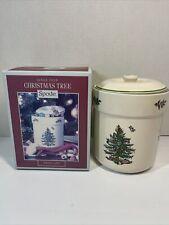 "Spode Christmas tree Sweet Jar 6"" high NIB"