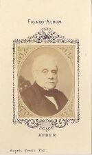 Esprit Auber Compositeur Figaro-Album carte de visite albumine vers 1875