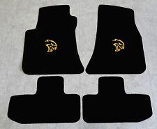 Autoteppich Fußmatten für Dodge Challenger Hellcat ab Bj 2008 Velours Nubuk gelb