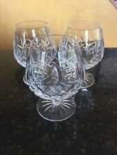 3 Signed Waterford Crystal LISMORE Balloon Brandy Snifter Glasses 12 Oz