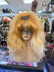 2 toned long blonde last one drag queen look  WOW LOOK NATURAL WIGS R US auc