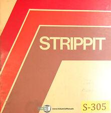 Strippit 30 T-SAF, Punching Notching Machine Operation & Mainteancne Manual 1977
