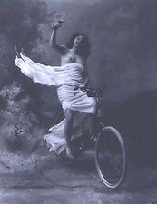 "Bicycle, antique home decor, Nude woman, vintage bike, wine glass  14""x11 CANVAS"
