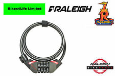 Raleigh Combination Lock. 4 Digit Bike Combi Lock. 185cm x 10mm. ALA808