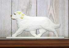 Clumber Spaniel Dog Figurine Sign Plaque Display Wall Decoration Lemon