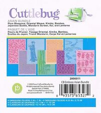 # Cuttlebug Asian Bundle 8  A2 Embossing Folders Sizzix
