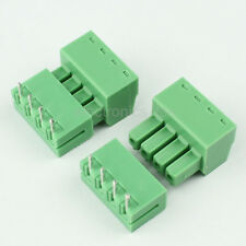 10sets 2EDG 4Pin Plug-in Screw Terminal Block Connector 3.81mm Pitch Right Angle