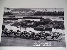 FAREWELL HOLLYWOOD PARK Racetrack Commemorative 8x12 B&W 2013 Closing Day Photo